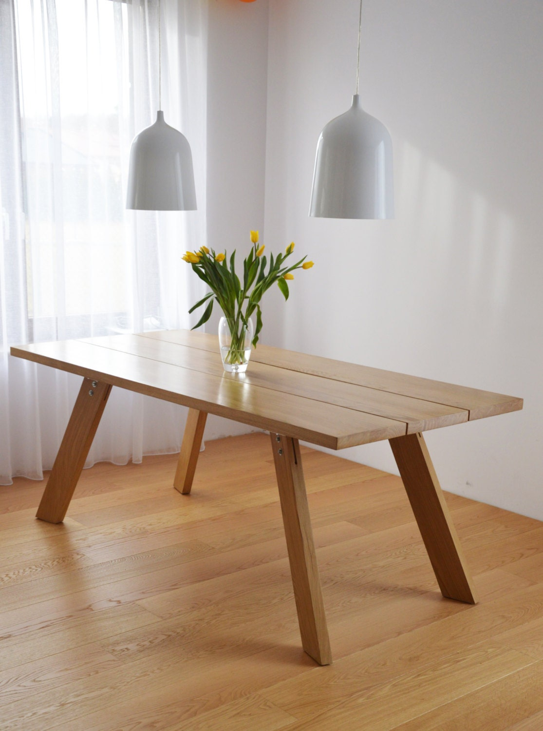 Handmade solid wood dining table contemporary design - Handmade wooden dining tables ...