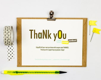 Customer Appreciation Card INSTANT DOWNLOAD - Randomly Energetic