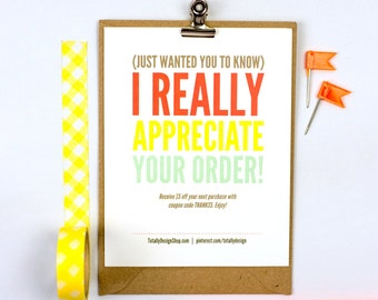 Thank You for Your Purchase template INSTANT DOWNLOAD - Delightfully Thoughtful