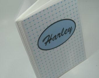 Baby Photo Album personalized photo album Boy Photo Album Baby Boy Album Baby Shower Gift Grandmas Brag Book 4x6 pictures Blue Heart 034LB