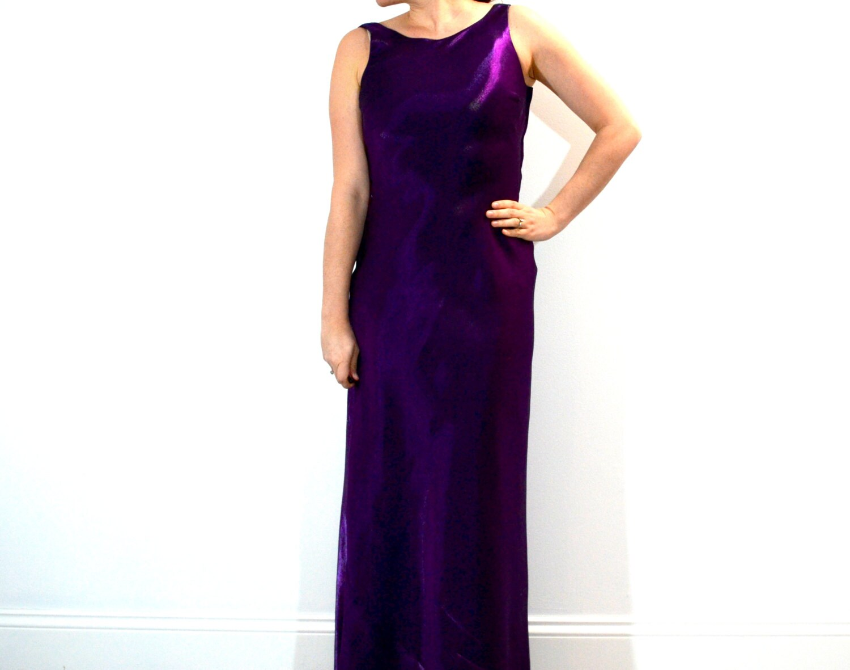 Vintage 90s Purple Shiny Prom Dress // Plum by ...