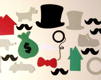 Monopoly Photo Booth Props 20pc Deluxe Photobooth Prop Set Wedding Photo Booth Props Monopoly Photo Booth Props Wedding Photo Booth Props