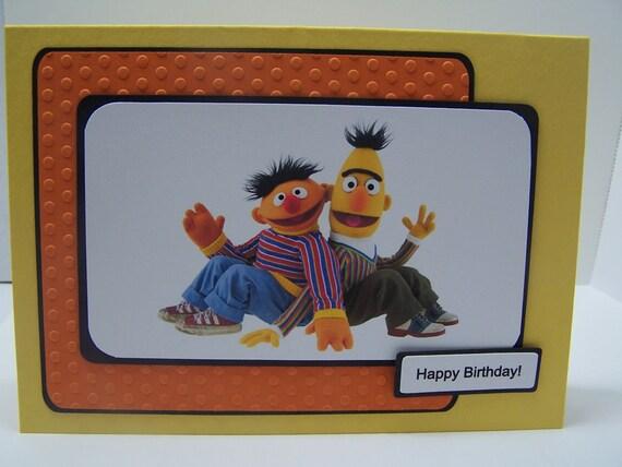 Handmade Greeting Card: Sesame Street Bert & Ernie