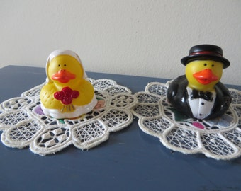 Bride and Groom rubber ducks - Sweet as can be