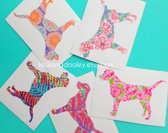 Lilly Pulitzer Inspired Labrador Retriever Vinyl Decal NEWEST PRINTS