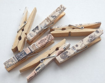 Wooden peg decorations. Vintage/Rustic/Shabby chic wedding decorations