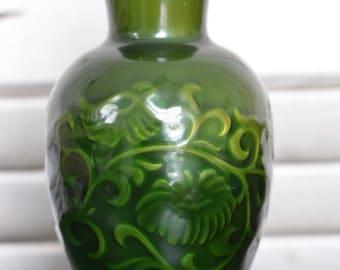 Spring Bouquet JADE GREEN 1981 Vintage AVON Fragranced Vase