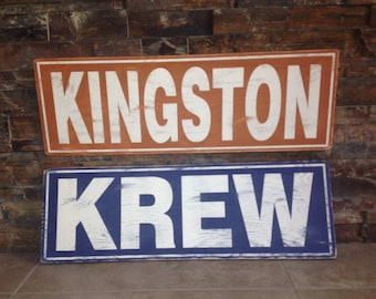 Wooden Distressed Name Sign