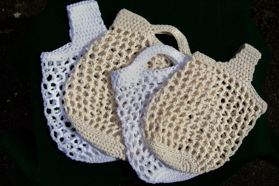 Crochet Vegetable Bag Pattern : Items similar to Crochet Patterns Produce Bag with size ...