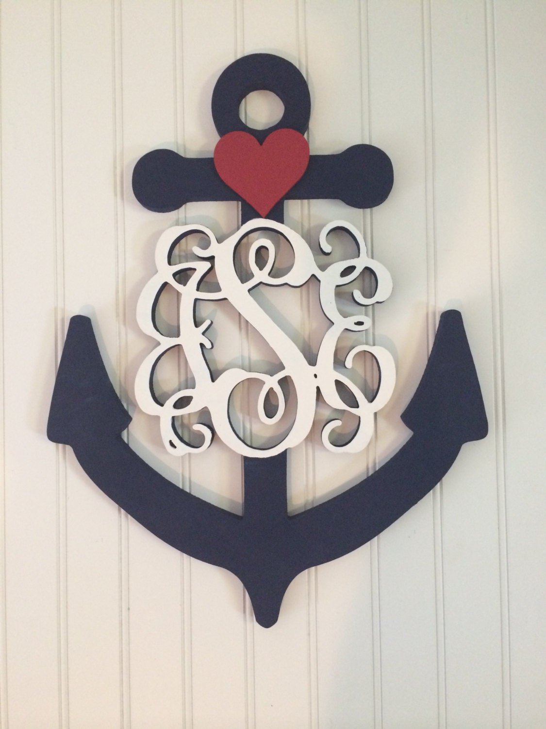 Custom monogram anchor decor for Anchor decoration