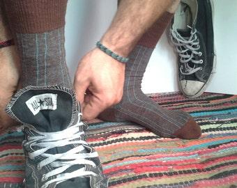 Set of Three, Hippie Socks, Men Socks, 60s Fashion, Unused Vintage Hosiery, Bohemian Socks, Hipster Socks, Rockabilly clothing