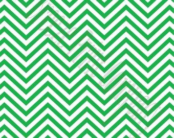Green chevron craft  vinyl sheet - HTV or Adhesive Vinyl -  kelly green and white zig zag pattern   HTV54