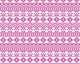 fuchsia and white tribal pattern craft  vinyl sheet - HTV or Adhesive Vinyl -  Aztec Peruvian pattern HTV917