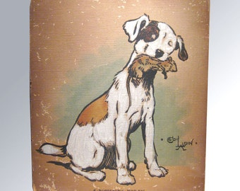 Cecil Aldin Original Watercolor Dog Painting - ORIGINAL Art - Charles Windsor Spaniel - A Successful Foray - Watercolor Painting