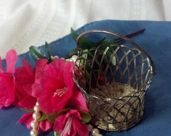 Vintage silver basket.