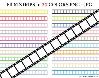 Film strips cliparts PNG and JPG, movie clipart, hollywood clipart - BR 328