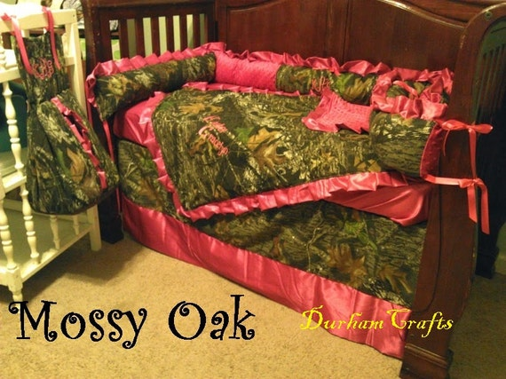 Baby Bedding Set Mossy Oak Camo And Your Color Choice Ruffled