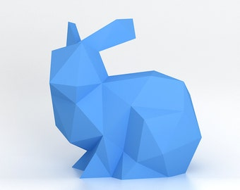 Bunny - 3D papercraft model. Downloadable DIY template