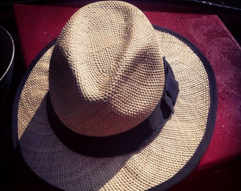 Straw trilby - made to measure