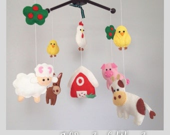 Popular Items For Farm Animals Mobile On Etsy