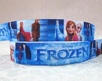 5 YDS Frozen FOE Elastic Ribbon