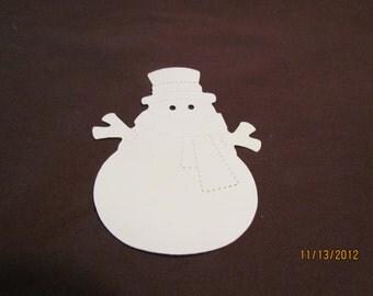 snowman die cut