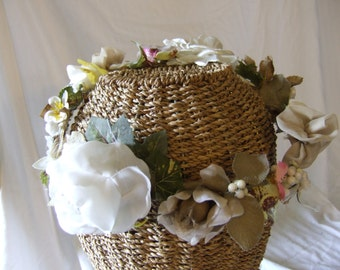 "Bridal hair wreath,handmade the ""Heather ,s Crown"""