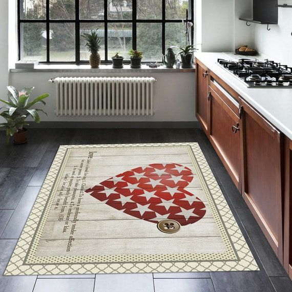 Items Similar To Starry Heart Retro Rug, Floor Mat For