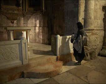 Prayer - The Church of the Holy Sepulchre - Color Photo Print - Fine Art Photography (IS29)