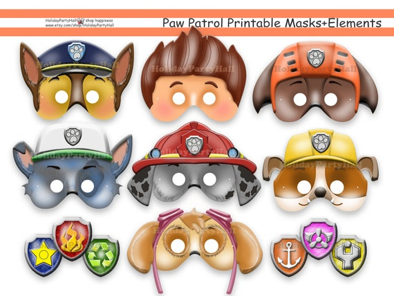 It is a picture of Persnickety Paw Patrol Printable Masks