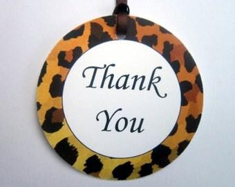 Leopard Cheetah Print Favor Tags