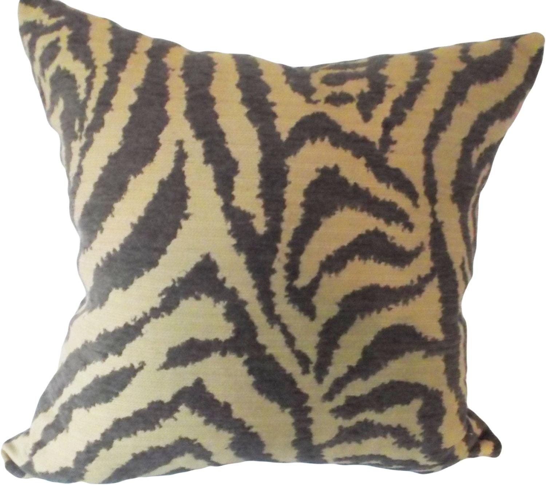 Zebra Chenille Iman Decorative Pillow Cover Throw Pillow