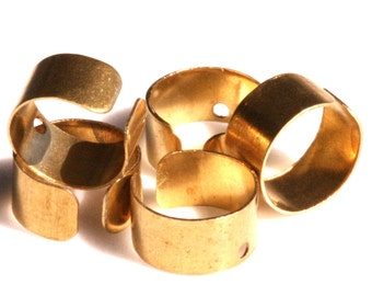 100 pcs (50 pair) Raw Brass Ear Cuffs with One Hole 9 mm 3/8 inch 992C