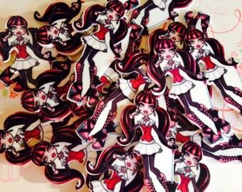 4 Inspired Monster High  Dracularas Shrinky Dink