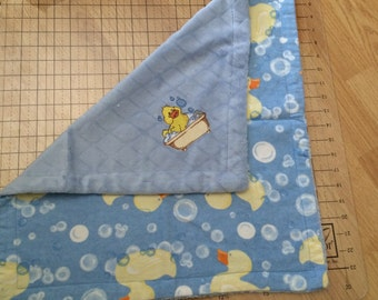 Embroidered  Duck Minky Blanket