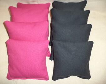 Cornhole bags Black and Pink corn hole bean bags 8 ACA Regulation bean bags