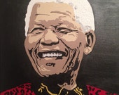 Nelson Mandela (CUSTOM Acrylic Painting) South Africa, Pop Art, Black History, President