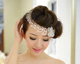 Bridal Wedding Bridal Rhinestone Headband Tiara (362)