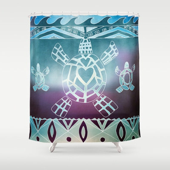 Like this item? - Tribal Turtle Shower Curtain Sea Turtle With Tribal Pattern