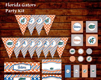Florida Gators Tailgate Party Kit - INSTANT DOWNLOAD