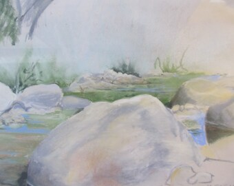 Downstream Pastel by Marge Fagan
