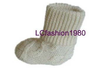 Baby wool shoes / Knitted wool shoes / Baby booties / Baby room shoes / Prewalker