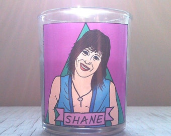 Shane McCutcheon Glass Votive Candle // LGBTQ Altar Candle