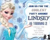 Frozen Birthday Invitation, Frozen Birthday Party, Frozen Invitation, Disney Frozen Invitation, Elsa, Olaf, chalkboard