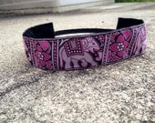 Sweat Me Pretty Non Slip Headband in Pink Elephants