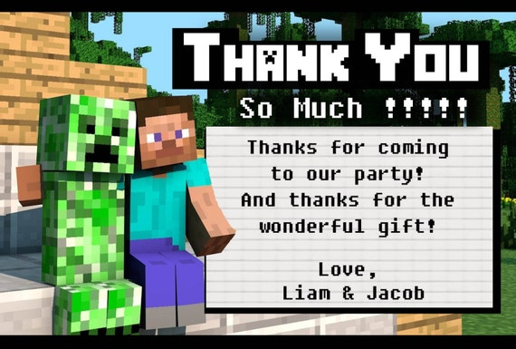 Minecraft Invitation Card was adorable invitation example