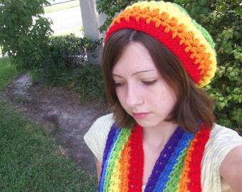 Rainbow Slouch beanie! gay pride