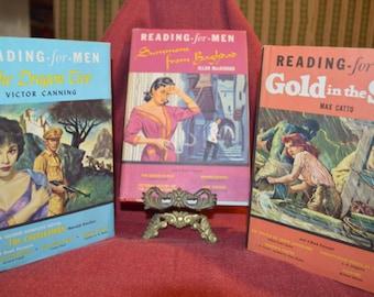"Three Vintage ""Reading-for-Men"" 1950s Adventure Stories"