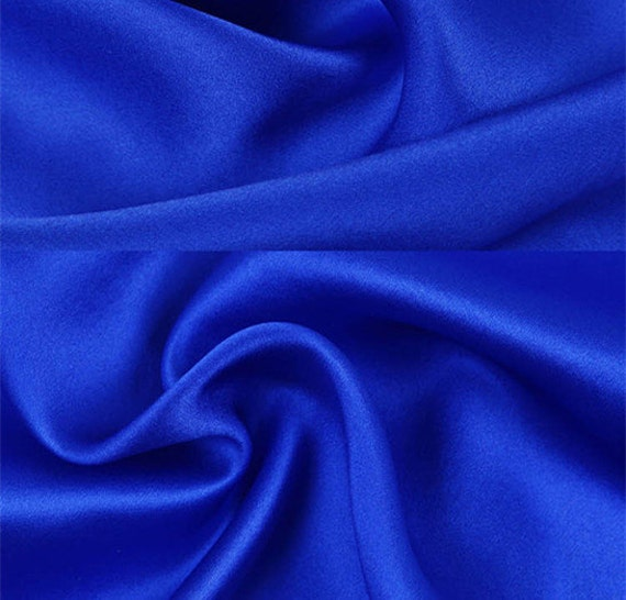 16 5m M 100 Mulberry Silk Fabric Color Royal Blue Pure