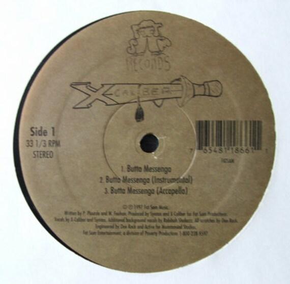 Butta Messenga b/w Le Miserables (12 inch maxi single) by X-Caliber
